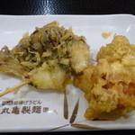 丸亀製麺 - 舞茸天&鶏天(H26.11.22)