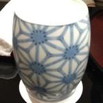 日本料理 太月 - 陶器のジョッキ 2014-11