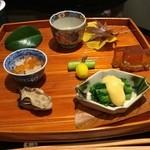 日本料理 太月 - 前菜 牡蠣時雨煮 2014-11