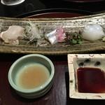 日本料理 太月 - 御造り 平目昆布締め さより あおりいか 2014-11