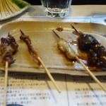 山猫軒 - 肝、腸、脂の串焼き