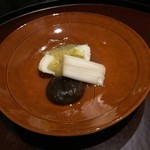 日本料理 太月 - 鱈の酒蒸しおぼろ巻き 2014-11