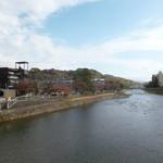さか井 - '14/11/23 浅野川大橋から上流を望む‥紅葉がキレイ