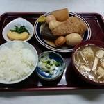 双葉食堂 - おでん定食(720円)2014年11月