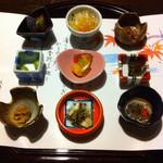 源流の宿 帆山亭 - 晩ご飯の前菜。