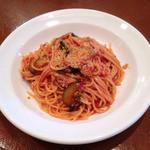 32839799 - なすとバジリコのスパゲッティトマトソース ¥1,000