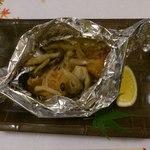 四季彩割烹いずみ - 鮭とシメジのホイル焼(2014.10)