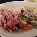 SUZU CAFE - 根菜の煮込みハンバーグ