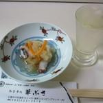 32844167 - お通しと日本酒