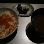 日本料理 「風花」 - 秋味・いくら 釜炊きご飯