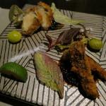 日本料理 「風花」 - 松茸のフライ 鮑のカツレツ