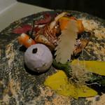 日本料理 「風花」 - かます雲丹焼 唐辛子焼浸し