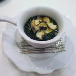 アルヴェアーレ - 青海苔とオクラとサザエの冷製スープ仕立て