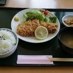 さちの湯レストラン - 餃子かつ定食