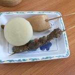 玉吉 - おでん(大根・天ぷら・すじ肉)