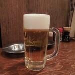 本物のやきとん 筑前屋 - まずはビールで乾杯! H26.11