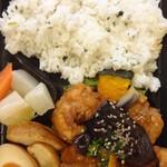 V PALETTE - 茄子&鶏唐揚げの香味和え弁当:502円←802円