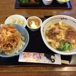 十勝庵 - 料理写真:さくらえびのかき揚げ丼ランチ