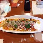 32862521 - サーモンと鯛のカルパッチョ♡