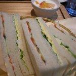 カフェグラン - 「モーニング」のサンドイッチ