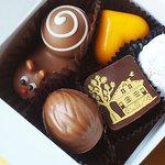 レダラッハ 青山店 - チョコ5個で1,540円。
