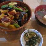 京八坂 - 生麩と野菜田楽丼