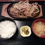 レンガ亭 - 2014.10ver.① 牛バラ焼き定食\600