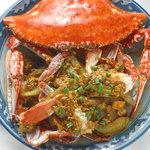 ソムオー - 蟹と卵のカレー炒め。評判の一品です。