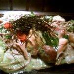 京ちゃばな - 美肌豚のアボカド黒焼きそば1300円