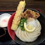 極楽うどん Ah-麺 - 竹鶏玉 中盛り800円 ※2014年11月
