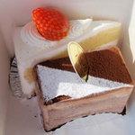 3289744 - アメールと苺のショートケーキ共に\320-