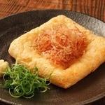 大判肉厚油揚げの炙り焼き~生姜醤油~