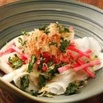紅白大根と長芋のサラダ