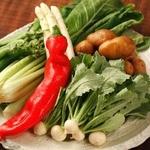 """【数量限定】季節の""""厳選野菜""""その日の調理法で"""