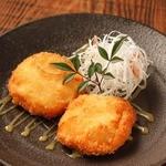 豆富と海老のコロッケ ~柚子味噌仕立て~