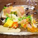 トラットリアチンクエポンテ - ランチ前菜盛り合わせ