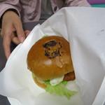 勝央サービスエリア(下り線)レストラン - 黒豆ちゃんバーガー
