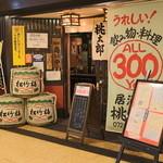 桃太郎 - ひらかたサンプラザ3号館地下1階エレベーター前にあります。