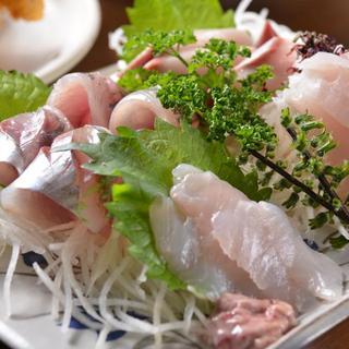 地魚刺身4点盛定食