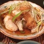 いけ田 - ランチをアップし忘れました。某グループ社員には、社食的存在のいけ田で油淋鶏。ランチパスポートで500円でした。ご馳走様様でした。。