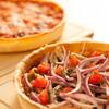 エール ビアアンドピッツァ - 料理写真:高さのあるシカゴスタイルのピザ