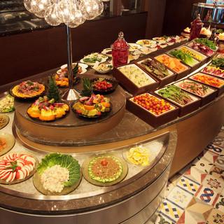【ビュッフェ】フルーツ、デザートも無料で楽しめます
