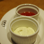 クアトロ ラボ - ポテトフライのディップ(ブルーチーズ)