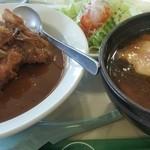 トトロ - 料理写真:カツカレーとラーメンセット