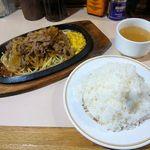 kicchinkarori- - カロリー焼き(ライス~大盛り、スープ付)690円 2014.11