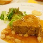 32909845 - Aランチ 肉料理 (豚肩ロース肉のプレゼ) (コーヒー又は紅茶をつけて) (1,000円)