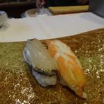 はる鮨 - あわび、ずわい蟹