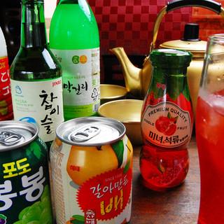 韓国カクテルやまっこりの種類も豊富!!