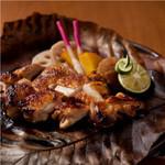 塩麹でマリネした鶏もも肉の香り焼き