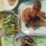 繚乱 - 大豆ミートと野菜定食  里芋のくるみ味噌和えがお勧めです